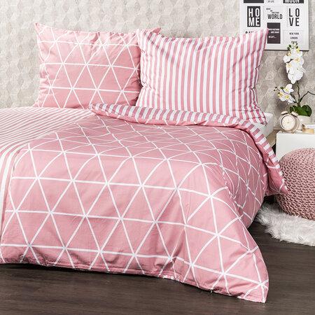 4Home Bavlnené obliečky Galaxy ružová, 140 x 200 cm, 70 x 90 cm