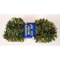 Vánoční řetěz Chunky zeleno - zlatá, 500 cm