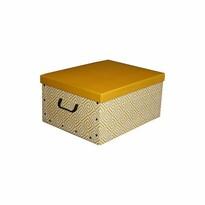 Compactor Skládací úložná krabice Nordic, 50 x 40 x 25 cm, žlutá