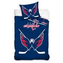 Lenjerie de pat luminoasă NHL Washington Capital, din bumbac, 140 x 200 cm, 70 x 90 cm