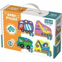 Trefl Baby puzzle Vozidlá na stavbe 4v1 3, 4, 5, 6 dielikov