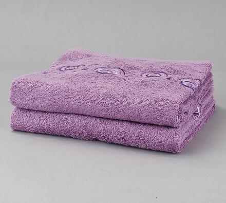 Ručník Ronda fialová, 50 x 90 cm, sada 2 ks