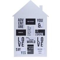 Fotorámeček na 12 fotografií My house bílá, 52 x 82,5 cm