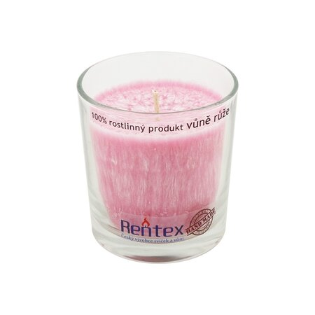 Palmová vonná sviečka v skle ruža