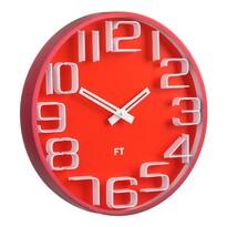 Future Time FT8010RD Numbers Designové nástenné hodiny, pr. 30 cm