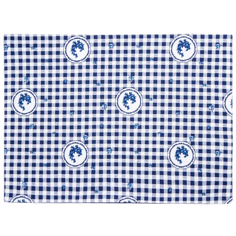 Trade Concept Prostírání Country kostka modrá, 33 x 45 cm