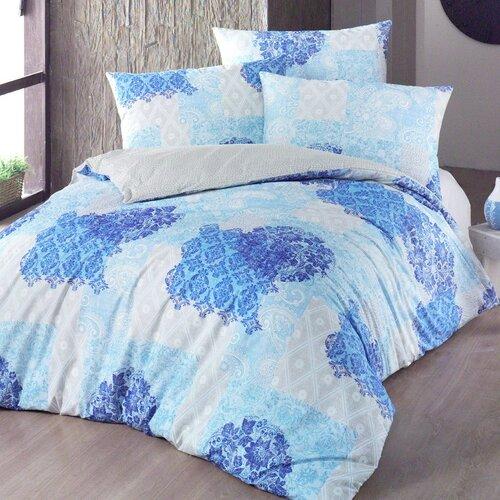 Night in Colours Bavlněné povlečení Ottorino modrá, 140 x 220 cm, 70 x 90 cm