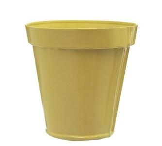 Plechový květináč, Bella Rosse, žlutá
