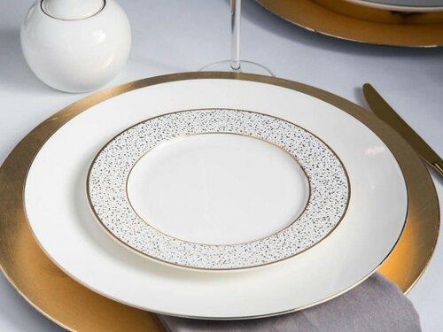 Altom 6-dielna sada dezertných tanierov Granit 20 cm, biela