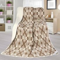 Vlněná deka Evropské merino DUO Křížky, 155 x 200 cm