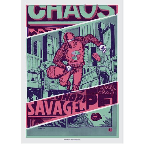Funk Fu Plagát Savage Shopper 50 x 70 cm, digitálna tlač