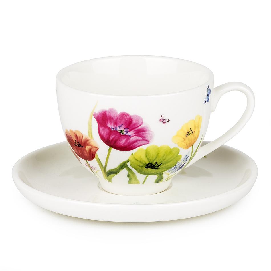Šálek s podšálkem Tulip 240 ml, porcelán