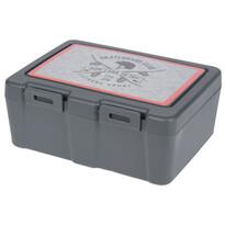 Lunch box s příborem, 13,5 x 18 x 7,5 cm, šedá