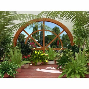 AG Art Fototapeta Zimní zahrada 360 x 270 cm, 4 díly