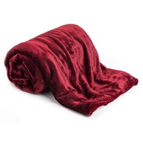 Deka XXL / Přehoz na postel červená, 200 x 220 cm