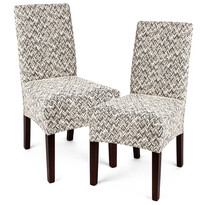 4Home Multielastický potah na židli Comfort Plus béžová, 40 - 50 cm, sada 2 ks
