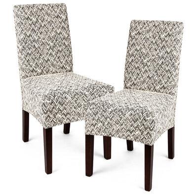 Husă multielastică 4Home Comfort Plus penntru scaun, bej, 40 - 50 cm, set 2 buc.