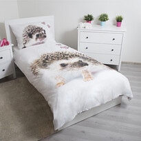 Jerry Fabrics Detské bavlnené obliečky Ježko, 140 x 200 cm, 70 x 90 cm