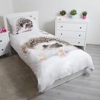 Lenjerie de pat copii Jerry Fabrics, din bumbac, Arici, 140 x 200 cm, 70 x 90 cm