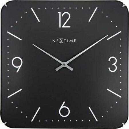 Nextime Square Dome 3175 nástenné hodiny čierna