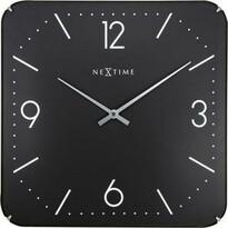 Nextime Squere Dome 3175 zegar ścienny czarny