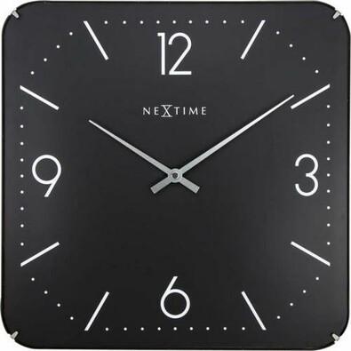 NextimeSquare Dome 3175 nástěnné hodiny černá