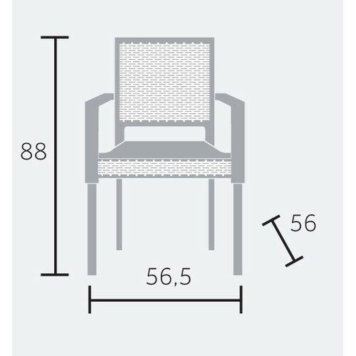 Zahradní stohovatelná židle Ratan Lux, champagne