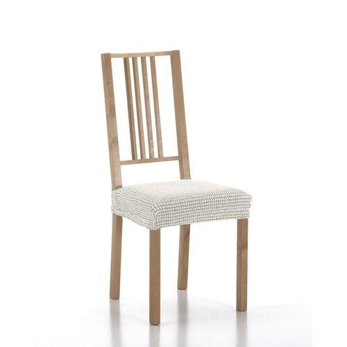 Forbyt Multielastický potah na sedák na židli Sada ecru, 40 - 50 cm, sada 2 ks