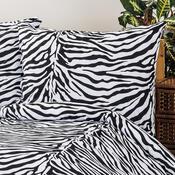 4Home pościel bawełniana  Zebra, 220 x 200 cm, 2 szt. 70 x 90 cm