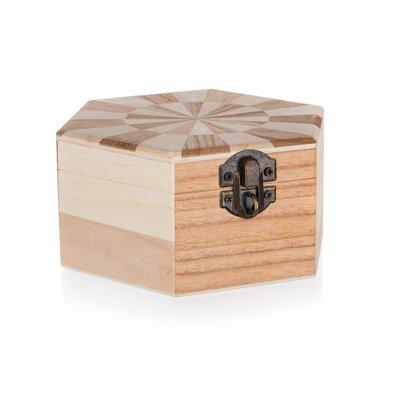 Dřevěná krabička Chess, 14 x 12 x 6 cm
