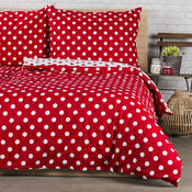 Lenjerie pat 1 pers. 4Home bumbac Buline roșii, 140 x 200 cm, 70 x 90 cm