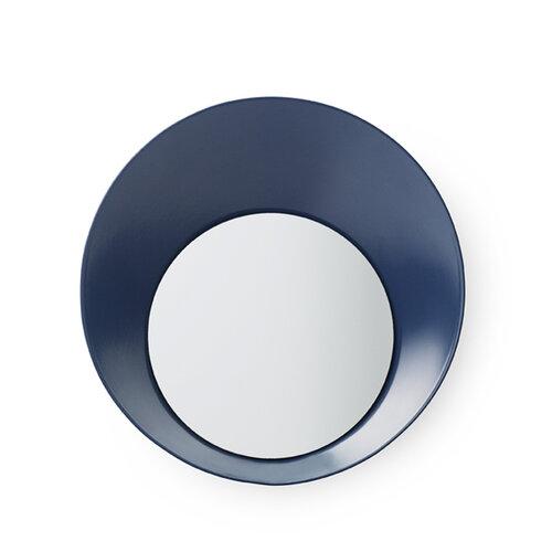 Normann Copenhagen Vešiak Ready Hook so zrkadielkom 20 cm, modrý