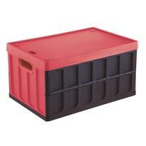 Tontarelli Rozkládací přepravka s víkem 46 l, černá/červená