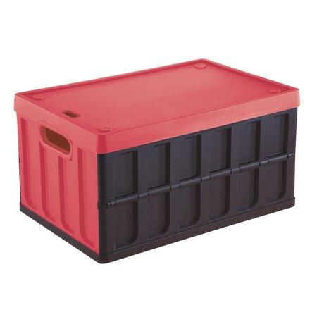 Tontarelli Rozkladacia prepravka s vekom 46 l, čierna/červená