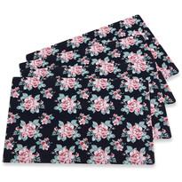 Altom Prestieranie Paris Rose black, 28 x 43 cm, sada 4 ks