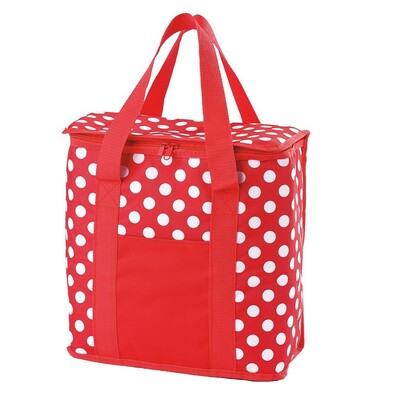 Chladící taška, červená s bílými puntíky, 20 l