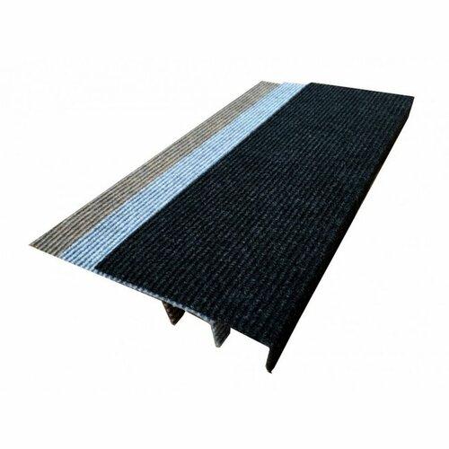 Quick step téglalap lépcsőszőnyeg, antracit, 24 x 65 cm