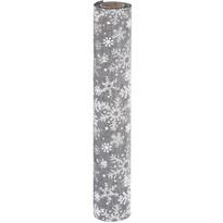 Țesătură decorativă Big snowflakes gri, 21 x 250 cm