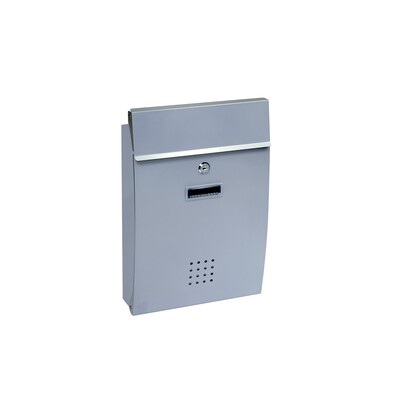 Ocelová poštovní schránka  světle stříbrná