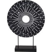 Decorațiune africană metalică Koopman Nange negru, diam. 29 cm