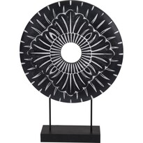 Koopman Kovová africká dekorace Nange černá, pr. 29 cm