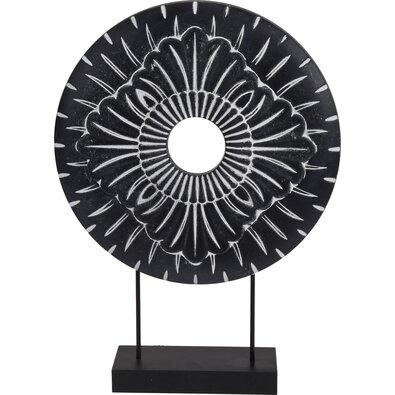 Kovová africká dekorace Nange černá, pr. 29 cm