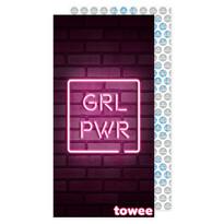 Prosop cu uscare rapidă Towee GIRL PWR, 50 x 100 cm
