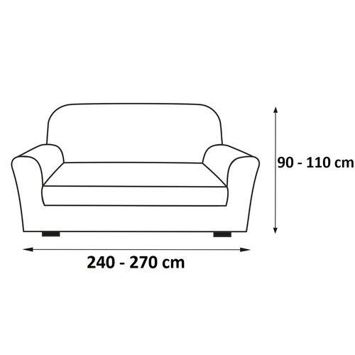 Multielastický poťah na sedaciu súpravu Sada hnedá, 240 - 270 cm
