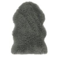 AmeliaHome Kožešina Dokka tmavě šedá, 50 x 80 cm