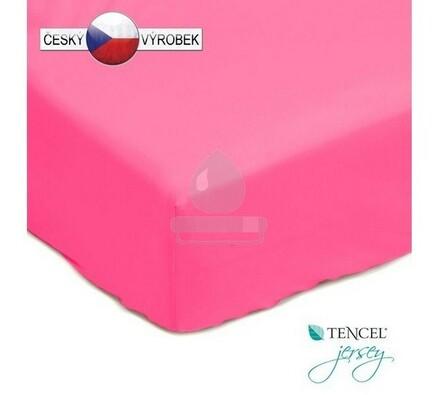 Nepropustné prostěradlo, růžové, 90 x 200 cm