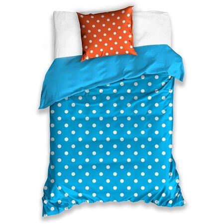 Pöttyök pamut ágynemű, kék, 140 x 200 cm, 70 x 90 cm