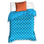 Lenjerie de pat Bulină, albastru, 140 x 200 cm, 70 x 90 cm