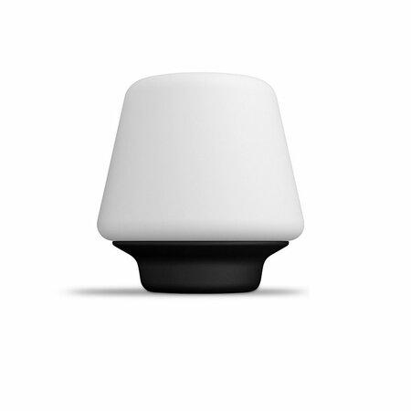 Philips Hue 40801/30/P6 stolná LED lampa Wellness 9,5 W, čiernobiela