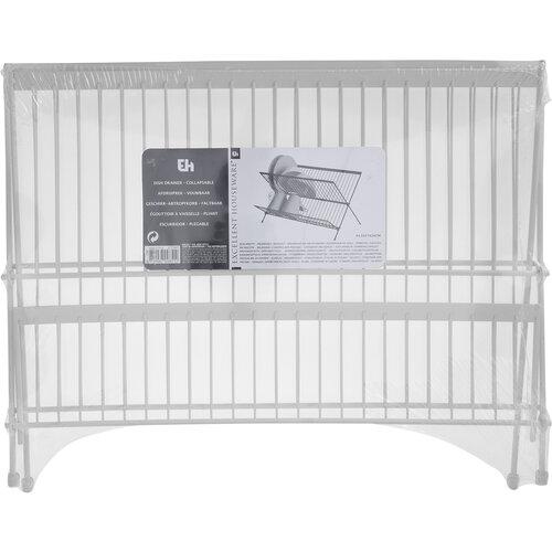 Excellent Houseware Odkvapkávač na riad, 44 x 25 x 26 cm, sivá